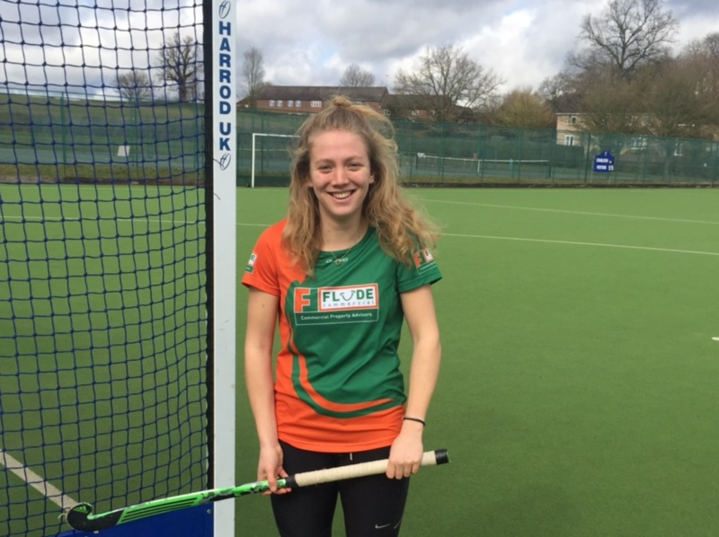 Flude Commercial sponsor one of Sussex's up and coming Women's Hockey stars